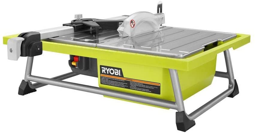 Showcase the product of Ryobi 7 in. Tabletop Tile Saw