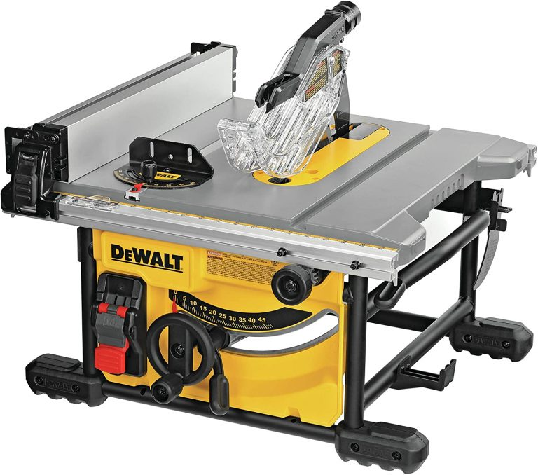 DEWALT Table Saw for Jobsite, 8-1/4-Inch (DWE7485)