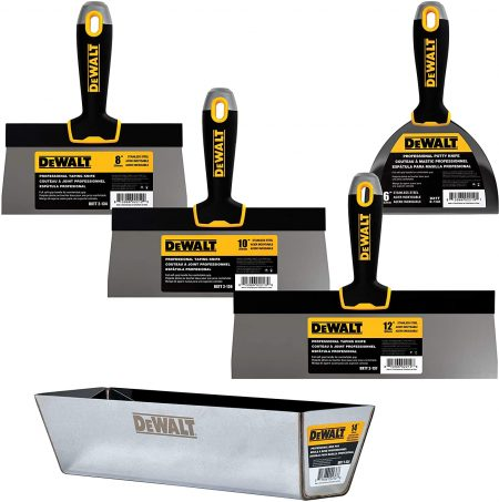 DEWALT-Stainless-Steel-Taping-Knife-Mud -Pan-Set