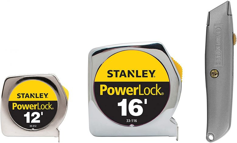 Stanley Tape Measurer & Knife Value Pack