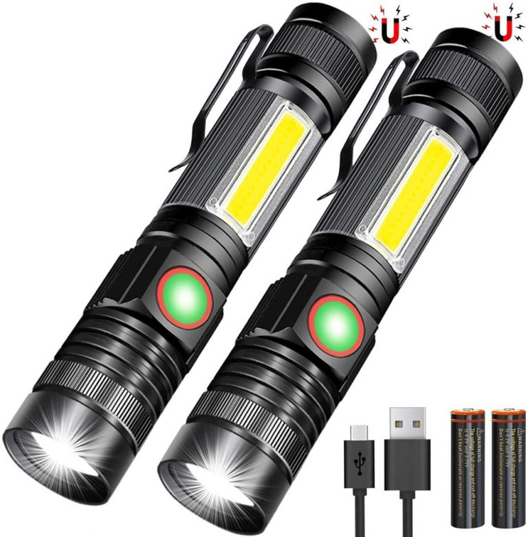 USB Rechargeable Magnetic Flashlight